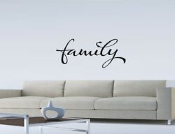 FAMILY WALL QUOTE DECAL STICKER VINYL HOME SAYING Family Vinyl Wall Art Letters $8.50
