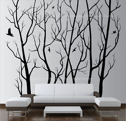 Large Wall Art Decor Vinyl Tree Forest Decal Sticker choose size and color $62.99