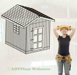 10X8 GABLE ROOF UTILITY SHED 26 BARN GARDEN SHED PLANS CD 3D PDF CUSTOM VIEWS