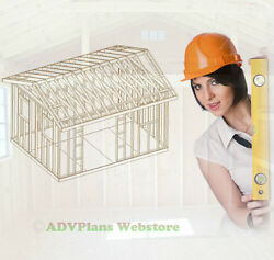 12X16 GABLE ROOF BACKYARD SHED PLANS ADV PLANS WOOD SHED PLANS AND GUIDES CD
