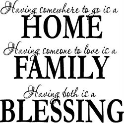 HOME FAMILY BLESSING HOME DECOR WALL DECAL 13quot; X 13quot; $12.87