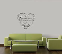 SO IT#x27;S NOT GONNA BE EASY HEART VINYL WALL DECAL WORD HOME ART DECOR LETTERING $14.20