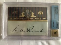 Franklin Roosevelt Cut Cuts Auto BGS 10 UD Signs History