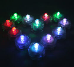 FREE SH 10 LED Multi color changing RGB submersible holiday Party Light Gift $8.25