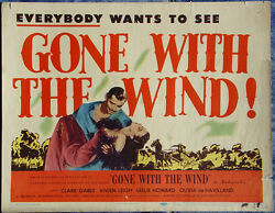 Gone with the Wind R1947 Original & Complete Movie Lobby Card Set 8 Leigh Gable
