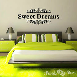 Sweet Dreams Vinyl Art Home Wall Bedroom Quote Decal Sticker Decoration Decor $32.99