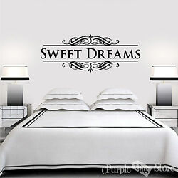 Sweet Dreams Vinyl Art Home Wall Bedroom Letters Quote Decal Sticker Decoration $25.99