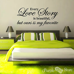 Love Story Vinyl Art Home Wall Bedroom Room Quote Decal Sticker Decoration Decor $27.99