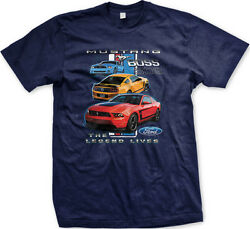 Mustang Boss 302 The Legend Lives Ford Stripe FREE SHIPPING New Mens T-shirt