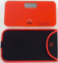 NewlineNY Mini Bathroom ScaleTravel Protection Case Red Orange:0720MNYROBag $25.95