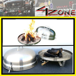 Brand New ALL Stainless Steel Portable Fire pit Self Contained