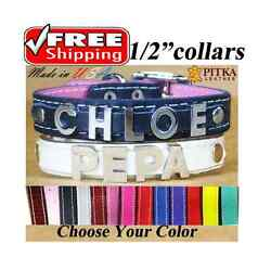 Collars for Puppies with Chrome Name Cute Personalized Collars for Toy Dogs XS $9.00