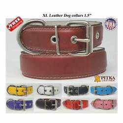 XL Leather Dog Collars Strong Collar for Big Dogs Free shipping in USA $39.00