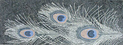 Peacock Feather Painting Photograph Design Stone Art Marble Mosaic FL820