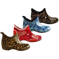 Wholesale Lot 24 pairs Womens Rain Ankle Boots Outdoor Garden Print RB-22