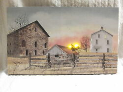 Early Riser Rooster Barn Farm Lighted Canvas Wall Decor Sign Billy Jacobs New $35.69