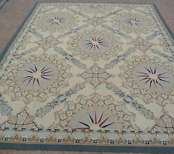 8' x 10' Hand-woven Wool French Aubusson Flat Weave Rug Made to Order