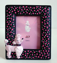 ReTrO DeSiGn Pink Poodle Polka Dot 3D Picture Frame Too Cute NEW VP $6.95