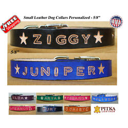 Custom Puppy Collars Personalized Dog Collars for Small Dogs Made in USA $20.00