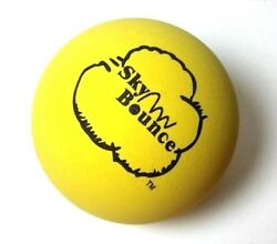6 SKY BOUNCE YELLOW COLOR HAND BALLS RACKET BALL RACQUETBALL $11.99