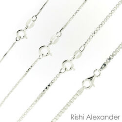 925 Sterling Silver BOX Chain Necklace All Sizes Stamped .925 Italy  $4.99