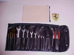 Ferrari Tool Kit_Roll Bag_Leather Pouch Tan 512BBi OEM