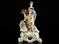 c1760 Bow English Porcelain Figure of Ceres and Lio1