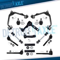 (14pc) Front Upper Control Arm Tie rod Pitman Idler Arm 1997-2002 Ford F-150 RWD $118.05
