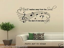 Music Life quote vinyl wall decal wall decor inspirational wall letters $12.49