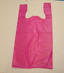 Plastic T Shirt Bags with Handles You Pick Lot amp; Colors amp; Size $14.99