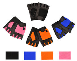 Weight Lifting Leather Workout Gloves For Gym Fitness Wheelchair Gloves $7.99