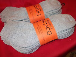 Mens socks ankle quarter 100% cotton made in Italy 6 pairs davido gray 10 13 $15.50