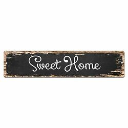 SP0104 Sweet Home Street Plate Sign Bar Store Shop Cafe Home Kitchen Chic Decor