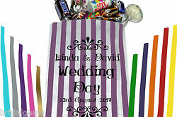 Personalised Wedding Sweet Bags for your wedding sweet table candy bar or event
