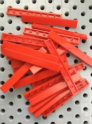 Lego Red 1x8 tiles Smooth Finishing MODULAR BUILDINGS new lot of 12 $3.49