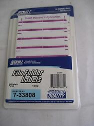 248 qty File Folder Label Light Purple Stickers Quill 7 33808 1 3 Cut Typewriter $1.75
