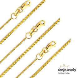 14KT Solid Yellow Italian Gold Wheat Chain Necklace 0.9mm 16quot; 18quot; 20quot; 22quot; $156.30