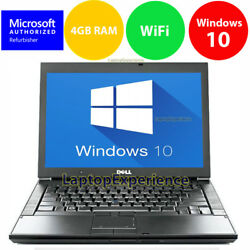 DELL LAPTOP LATiTUDE WINDOWS 10 CORE 2 DUO 4GB RAM WIN DVD WIFI PC HD COMPUTER $225.00