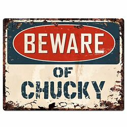 PP1516 Beware of CHUCKY Plate Rustic Chic Sign Home Room Store Decor Gift $19.95