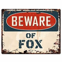 PP1335 Beware of FOX Plate Rustic Chic Sign Home Room Store Decor Gift $19.95