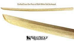 Japanese White Oak Practice Sword -- Wooden Training KatanaSamuraiBokken - NEW