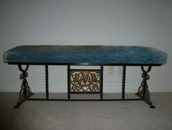 19th Century Wrought Iron Bench