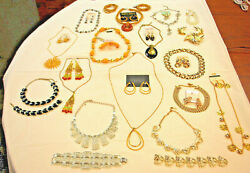 1-Lot of 16-Assorted Jewelry Sets (Necklace Pins Earrings Bracelets)(#S5348)