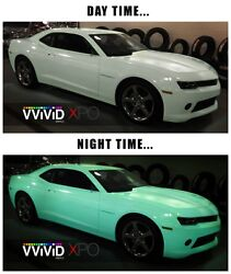 Vvivid Xpo Gloss Green Glow In The Dark Vinyl Car Wrap decal