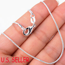 Real 925 Sterling Silver Italian Tarnish Resist Nickle FREE Snake Chain Necklace $9.99