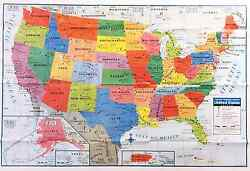 USA US MAP Poster Size Wall Decoration Large MAP of United States 40quot;x28quot; D02 $5.25