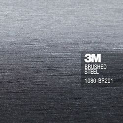 3M 1080 Brushed Steel Vinyl Car Wrap Decal