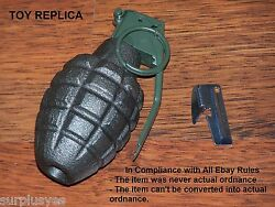 WWII Pineapple Mark II MK2 Replica Reproduction Toy Army Military Display amp; P38 $17.90