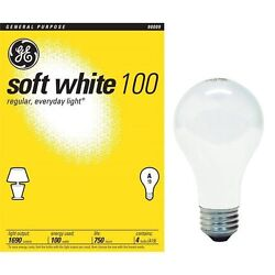 8 Pack - 100 Watt GE Soft White  Light Bulbs 41036 (Pack Of 8) $14.89