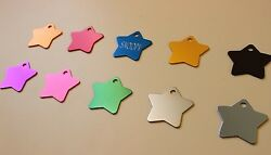 PET TAG STAR ID DOG TAGS PREMIUM FULLY ANODIZED DIAMOND ENGRAVED PERSONALIZED $3.99